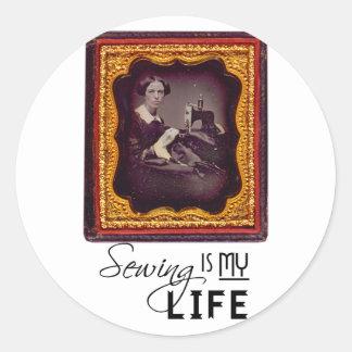 Sewing é minha vida adesivo