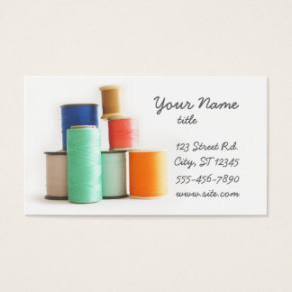 Sewing ou costurando cartões de visitas