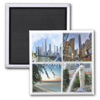 SG * Singapore - Singapore em o dia Ímã Quadrado