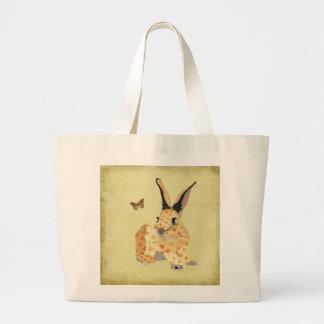 Shabby Floral Bunny  Bag