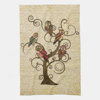 Shabby Owl Tree Towel