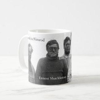 Shackleton e grupo na imagem antárctica do Nimrod Caneca De Café