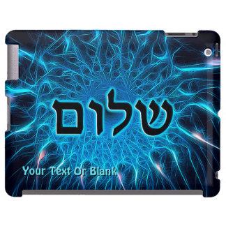 Shalom no Fractal azul Capa Para iPad
