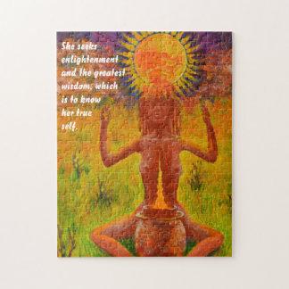 Shaman que meditating - quebra-cabeça do humor