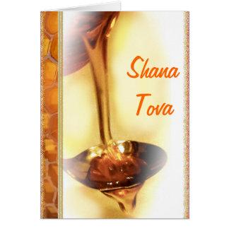 Shana Tova - ano judaico novo feliz Rosh Ha Shana Cartão Comemorativo