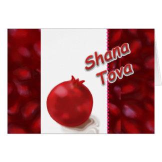 Shana Tova - romã vermelha - cartão