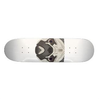 Shape De Skate 18,1cm A ilustração persegue o Pug da cara