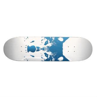Shape De Skate 18,1cm Lobo do azul de gelo da ilustração