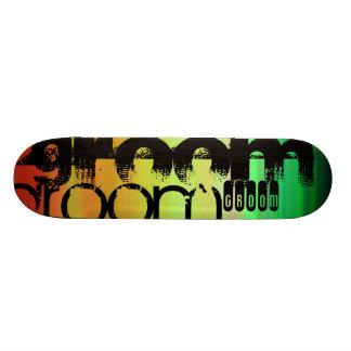 Shape De Skate 18,1cm Noivo; Verde, alaranjado vibrantes, & amarelo