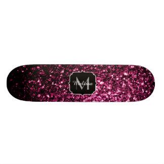 Shape De Skate 18,1cm O brilho cor-de-rosa bonito sparkles monograma