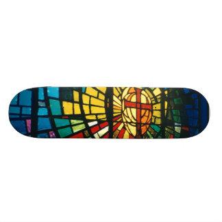 Shape De Skate 18,1cm O prisma claro do vitral colore a plataforma do