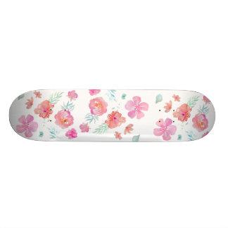 Shape De Skate 18,1cm O rosa floresce o ¾ legal romântico da aguarela 7