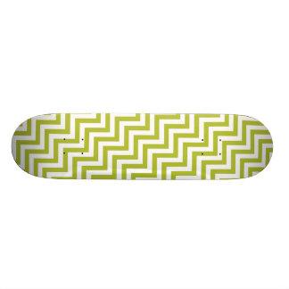 Shape De Skate 18,1cm O ziguezague verde e branco listra o teste padrão
