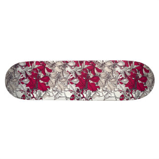 Shape De Skate 18,1cm Pintura floral do vintage elegante da arte de