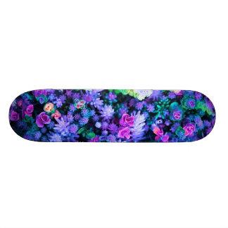 Shape De Skate 18,1cm Succulents florais cor-de-rosa e roxos femininos