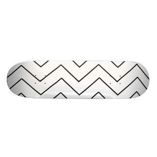 Shape De Skate 18,1cm Teste padrão geométrico do ziguezague - azul e