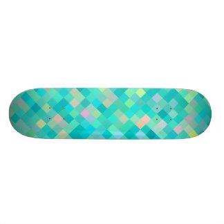 Shape De Skate 18,1cm Teste padrão multicolorido da arte do pixel