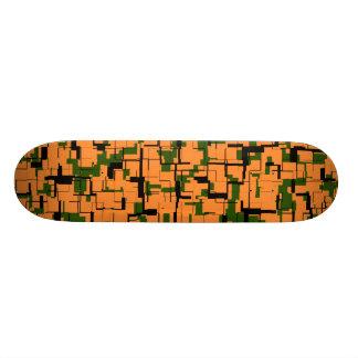 Shape De Skate 18,1cm Teste padrão preto verde alaranjado de Digitas