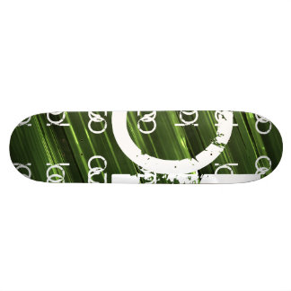 Shape De Skate 18,1cm Texto abstrato das luzes verdes do metal