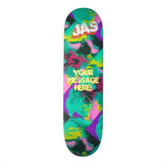 Shape De Skate 18,1cm Turquesa cor-de-rosa roxa derramada na moda da