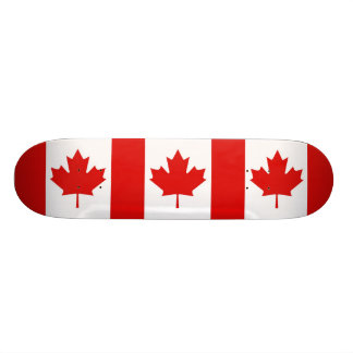 Shape De Skate 18,4cm A bandeira da folha de bordo de Canadá