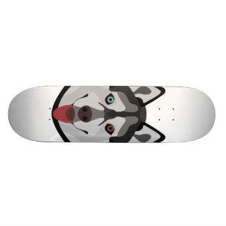 Shape De Skate 18,4cm A ilustração persegue o rouco Siberian da cara