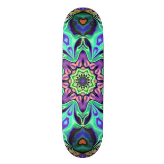 Shape De Skate 18,4cm Abstrato da mandala de turquesa