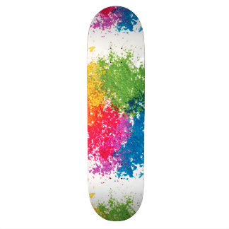 Shape De Skate 18,4cm Arco-íris do pó da cor