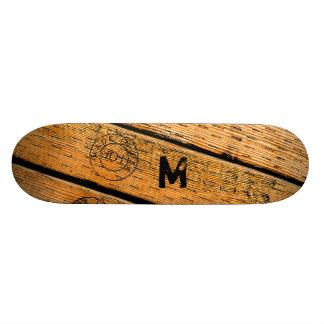 Shape De Skate 18,4cm As pranchas de madeira Monogrammed carimbaram w