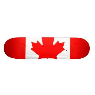 Shape De Skate 18,4cm Bandeira nacional de Canadá, folha de bordo,