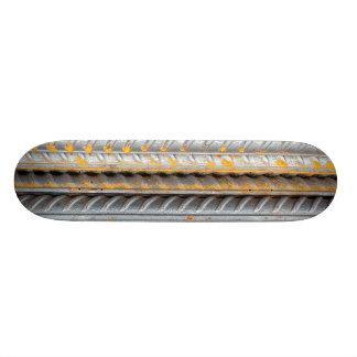 Shape De Skate 18,4cm Bares de teste padrão de aço oxidados