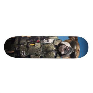 Shape De Skate 18,4cm Cão piloto, buldogue engraçado, buldogue