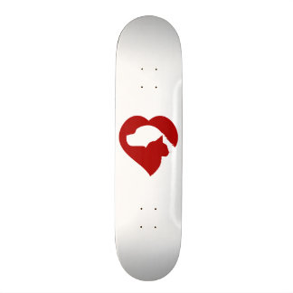Shape De Skate 18,4cm Coração vermelho do gato e do cão do salvamento do