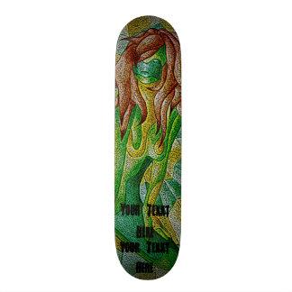 Shape De Skate 18,4cm design retro de levantamento verde da senhora da