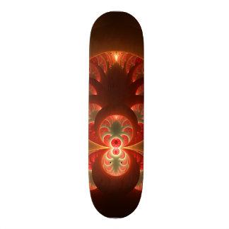 Shape De Skate 18,4cm Fractal moderno abstrato luminoso do vermelho