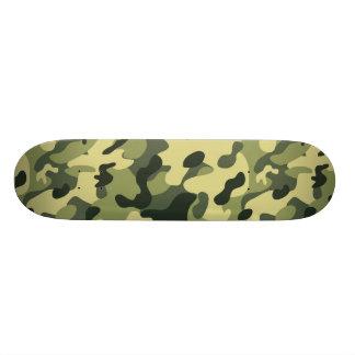 Shape De Skate 18,4cm Fundo verde do teste padrão da camuflagem do preto