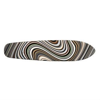 Shape De Skate 18,4cm Linhas onduladas na luz - marrom/bege/azul de