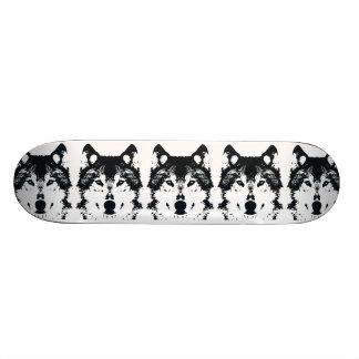 Shape De Skate 18,4cm Lobo preto da ilustração