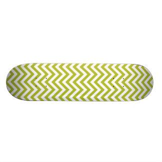 Shape De Skate 18,4cm O ziguezague verde e branco listra o teste padrão