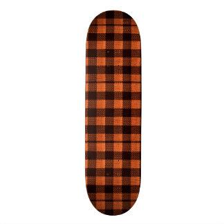 Shape De Skate 18,4cm Olhar Checkered de serapilheira do teste padrão do