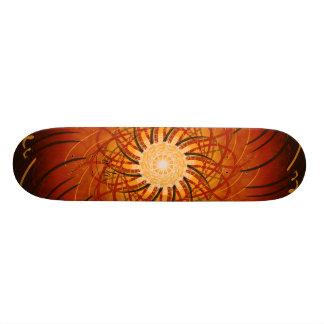 Shape De Skate 18,4cm Por do sol customizável (spirograph psicadélico)
