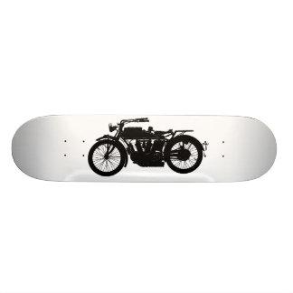 Shape De Skate 18,4cm Silhueta da motocicleta do vintage no preto rico