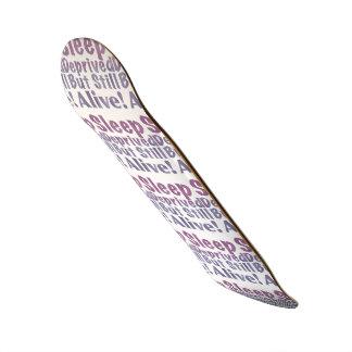 Shape De Skate 18,4cm Sono destituído mas ainda vivo em roxos sonolentos