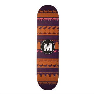 Shape De Skate 18,4cm Teste padrão colorido retro #2 dos animais do