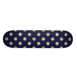 Shape De Skate 18,4cm Teste padrão de bolinhas elegante da folha de ouro