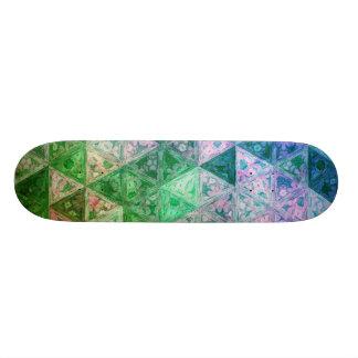 Shape De Skate 18,4cm Teste padrão de flor azul e verde
