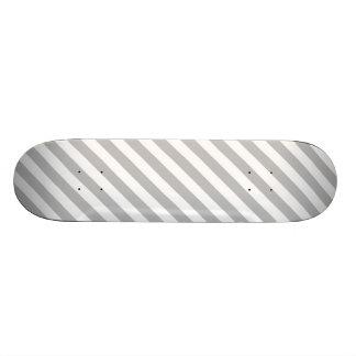 Shape De Skate 18,4cm Teste padrão diagonal do cinza e o branco das