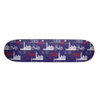 Shape De Skate 18,4cm Teste padrão dos marcos de Londres