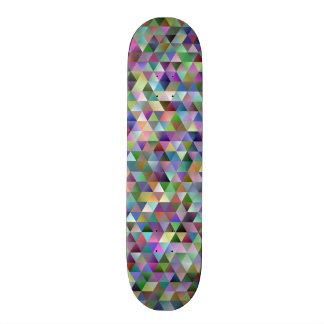 Shape De Skate 18,4cm Teste padrão feliz do triângulo
