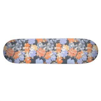 Shape De Skate 18,4cm Teste padrão floral alaranjado violeta cinzento do